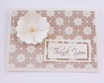 Star Thank You Card, Art Deco Thank You Card