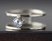 Natural Rose Cut Diamond Cage Ring