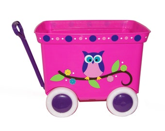 Personalized Pull Wagon - Baby Shower / First Birthday / Owl on a branch