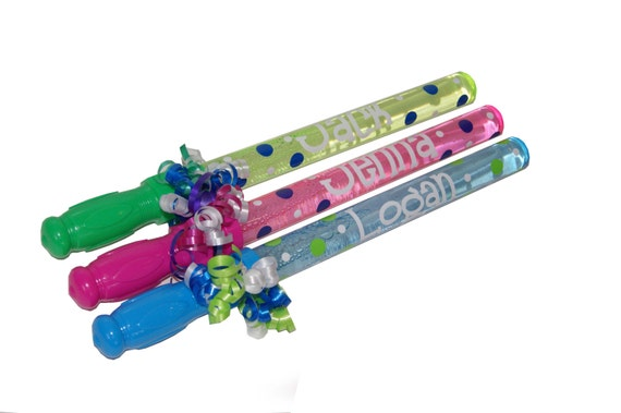Quantity of 5 - Personalized Bubble Wands Party Favor