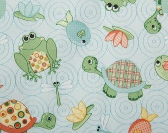 Babyville Boutique Playful Pond Turtles & Frogs 64 inch wide Laminate
