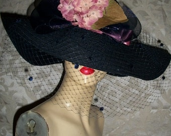 Vintage Hat By Morgan Taylor Made In Italy