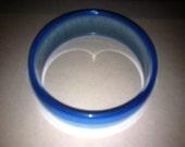 Vintage Blue Lucite Bangle Bracelet