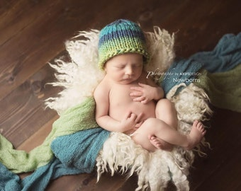 multi shades roll rim beanie - newborn photo prop - SPECAIL PRICE - sunny day - many colours - hand knit - baby boy girl