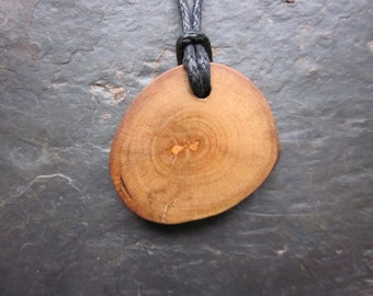 Natural Wood Pendant - Holly - for Your Inner Warrior.