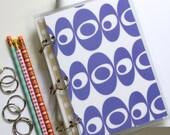 Notebook Binder Journal, 6 x 9, Mid Century Modern, Purple