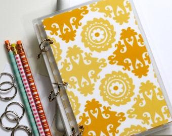 Journal Binder Notebook, 6 x 9, Suzani, Yellow