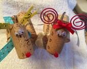 Wine Cork Reindeer Ornaments - Rodney & Rhonda Reindeer