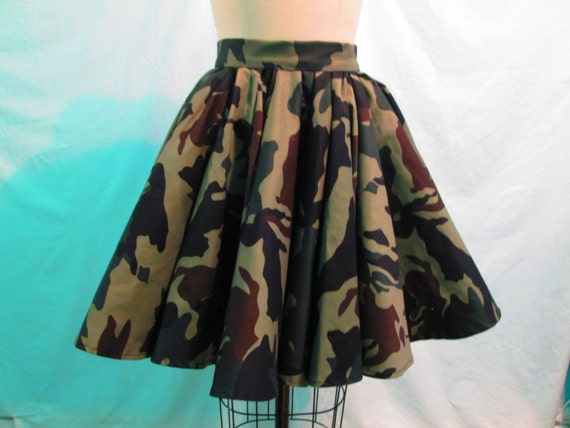 army fatigue flare skirt by courtneysamone on etsy