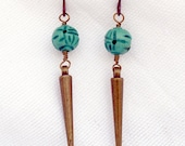 Turquoise and Bronze Earr...