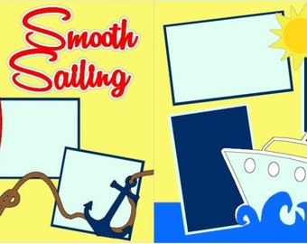 Smooth Sailing 2-page 12x12 do-it-yourself scrapbook kit