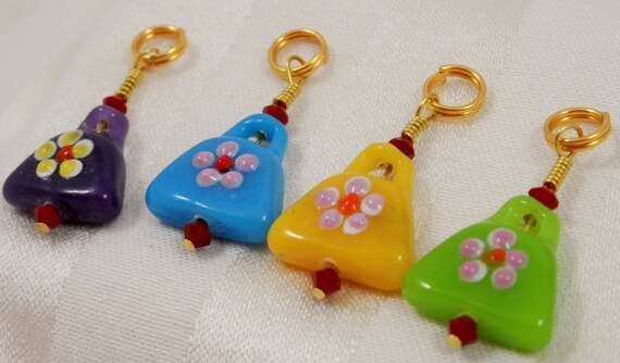 how to make stitch markers with jump rings