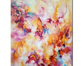 Fire of Creation - the sense of wealth for you - original acrylic painting