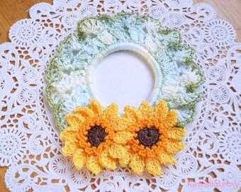 Kawaii Crocheted Scrunchie - Gerbera Daisy