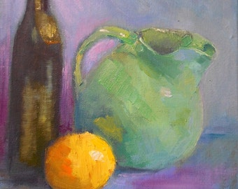 Small Still Life, Daily Painting, Small Oil Painting, A Classic Set-Up, 8x10 Original