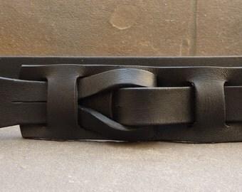 """Muse """"Qallu"""" Belt in Black 1.5 width"""