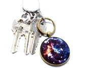 Nebula Keychain Keyring Car accessory - Backpack swag, Science, Astronomy Gift Idea