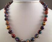 Vintage Millefiori beaded necklace
