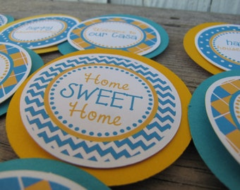 House Warming Decorations, House Warming Party Decorations, House Warming CUPCAKE TOPPERS, You Choose The Colors