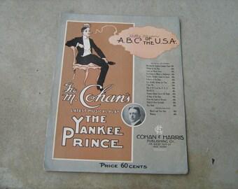 1908 sheet music  (  the yankee prince )