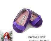 Purple Shoes, Handmade to fit Disney Animator Dolls
