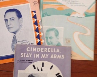 Vintage Sheet Music Set of 3 - all featuring Guy Lombardo Antique Score