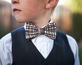 Brown clip on bow tie for boy, teen , or adult