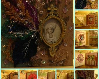 Extravagant Fairy Whispers and Rhymes Mini-Photo Album Handmake OOAK