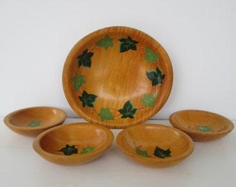 Wood Munising Salad Bowl Set