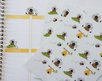 Planner Stickers 24 Bee Stickers, Fits Most Planners, Fits Erin Condren LifePlanner