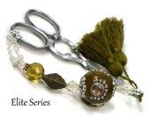 Scissor Fob Elite Series Olive Green Scissor Keeper Scissor Minder Quilting Cross Stitch Needlepoint Sewing