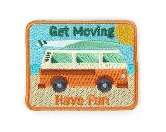 Get Moving Iron On Patch