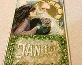 Father Time Fair Lady Samuel Schmucker Antique New Year Postcard John Winsch Jan. 1st