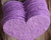 Plantable Favors that Grow™ handmade Organic Wildflower Seed Paper heart birthday party wedding bridal baby shower favor purple party supply