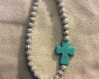 Silver western cowgirl necklace