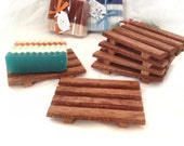 2.25 SPECIAL - African mahogany soap dishes - handcrafted from rich red African mahogany hardwood