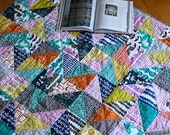 Half Square Triangle Lap Quilt