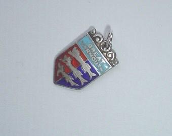 Sterling silver travel charm enamel Great Yarmouth English seaside vintage for bracelet