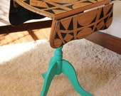 Hand Painted Furniture Vintage Side Table