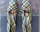 Vintage Woven Flats Women's SIZE 8 Multi Color
