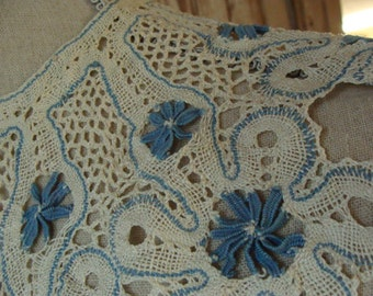 Antique Handmade Needlework Collar Downton Gatsby
