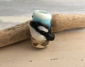 Orca the killer whale dread bead for thick dreadlocks
