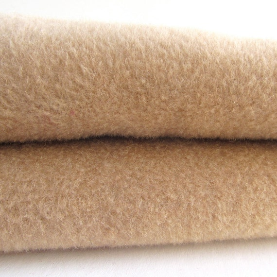 Vintage Camel Hair Fabric Wool Fabric Upcycled Short by ...