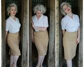shimmy away subtle plaid wool midi pencil skirt small or medium