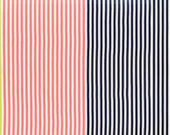 Gardenvale Multi Stripe Fabric - Moda - 18101 11 - Blue Citron Peach Navy Yellow Lavender