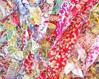 SALE Half Price Liberty fabric strips ribbons scraps