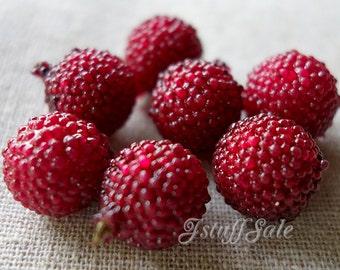 Raspberry cabochons - 10 pcs