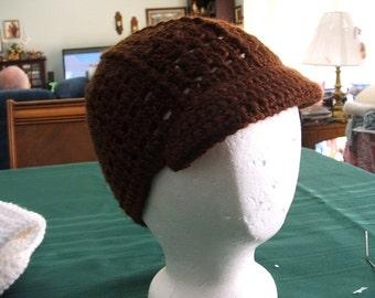 Brown Brimmed Hat