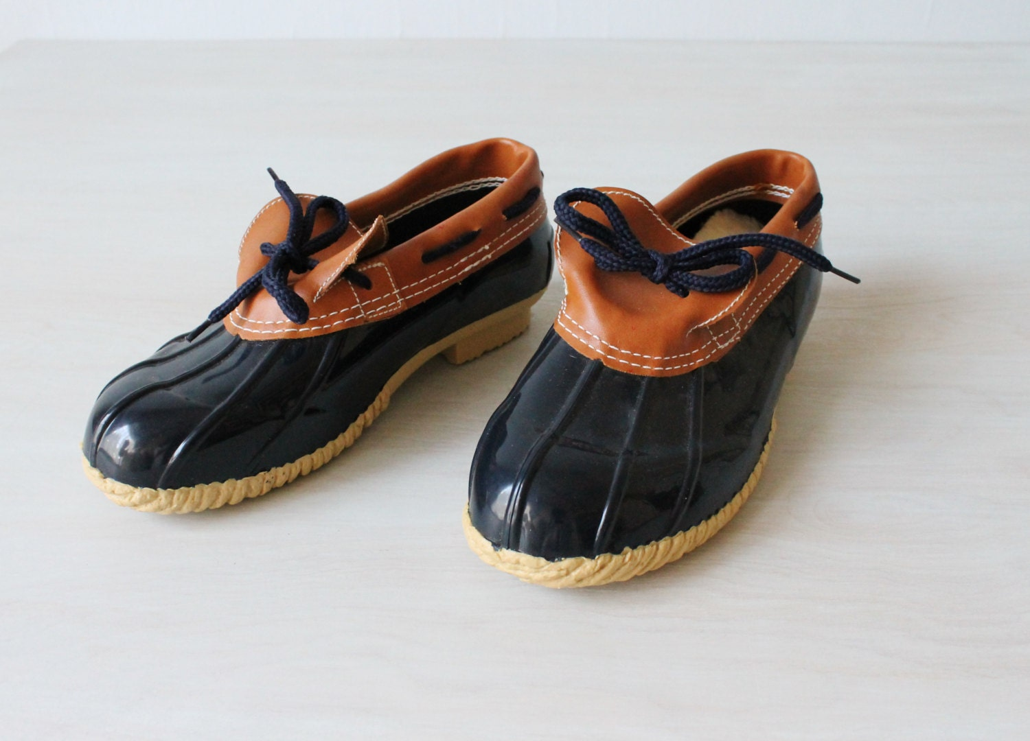 womens duck boots duck shoes vintage 1980s duck shoes