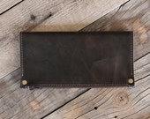"""Simple black Hand Dyed Leather Wallet // """"trifold"""" by fullgive in fg-black"""